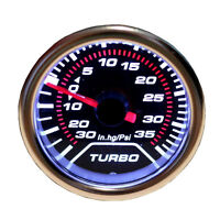 Universal 52mm 2″ Digital LED Turbo Boost Meter Gauge Kit Smoke Face Tint Psi