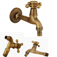 European Style Antique Brass Bathroom Kitchen Basin Faucet Mounted Sink Tap QU
