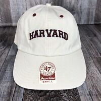 47 Brand Franchise Baseball Cap Hat Harvard Crimson NCAA Size Small Beige