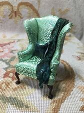 Bespaq/Pat Tyler Dollhouse Miniature Chair Seat Chaise W/Pillow & Drape