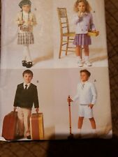 Vogue Pattern #7414~Boys/Girls Uniform~Jacket/Skirt/Pant s/Shorts~Size 6~Uc