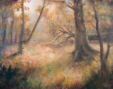 """Nuevo David Aldus original """"La Dorada Woods"""" bosque bosque Roble ceniza Pintura Al Óleo"""
