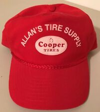 Vintage Red Cooper Tires SnapBack Hat Cap Allan's Tire Supply