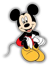 Mickey Mouse Cartoon Car Bumper Sticker Decal 4'' x 5''