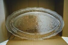 Creative Ware OVAL TRAY PLATTER clear plastic Server 18x10 VINTAGE unbreakable