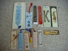 12 Asstd Embroidery/Paper/Dried Flowers/Metal Bookmarks