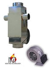Flue  Heat Exchanger Waste oil heater Recuperator with fan  7kW  23885 BTU/ hr