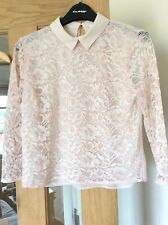 nude lace top size 6 brand new from miss selfridge