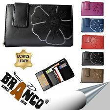 BRANCO Damen Geldbörse Brieftasche Wallet Portemonnaie Leder 5 Farben 22373