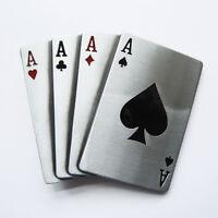 Men Belt Buckle Aces Poker Card Belt Buckle Gürtelschnalle Boucle de ceinture