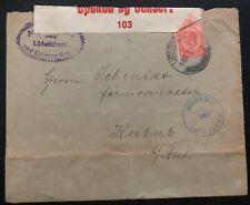 1918 Lüderitz South Africa WW1 Censored Cover To Australia