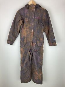 Columbia Omni Tech Youth One Piece Snowsuit Hooded Insulated Size 10/12