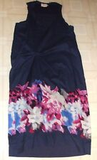 Pure DKNY Navy Blue 100% Cotton Sundress/Summer Dress sz S NWT