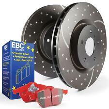 EBC Rear Turbo Groove / GD Sport Brake Discs and Redstuff Pads Kit - PD12KR160