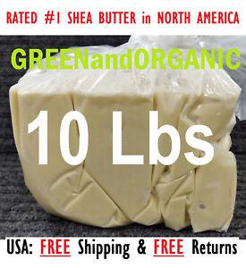 10 Lbs African Shea Butter 100% Pure Raw Organic Unrefined Bulk Wholesale 4.53kg