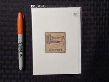 1933 THE MUMMY Print Ad / Greeting Card FN 6.0 Boris Karloff