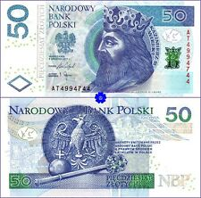 POLAND 50 ZLOTYCH 08.12.2017(2018) P-185b *AT* UNC Banknote first prefix