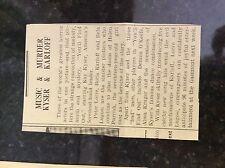 M3-8a 1941 dagenham. ww2 article boris karloff you'll find out kyser lugosi bela