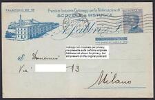 BOLOGNA CITTÀ 271 FABBRICA CARTONI SCATOLE Cartolina COMMERCIALE viaggiata 1921