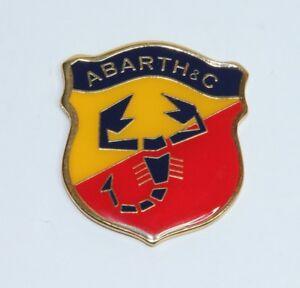 Classique Vintage Fiat Abarth Côté Logo Emblème Laqué Métal Badge Tout Nouveau