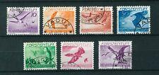 Liechtenstein 1939 Airmail full set of stamps. Used. Sg 176-182