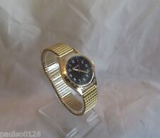 Gents Expandable Watch with Easy Read Dial by Pelex (Guaranteed) Gold Strap