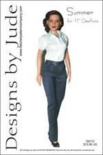 "Summer Doll Clothes Sewing Pattern 17"" Athletic Body De De & DeeAnna Tonner"