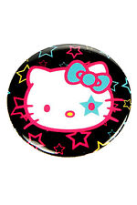 "Hello Kitty - 1.25"" Stars Black Button Pin Badge Pinback Cute Sanrio"