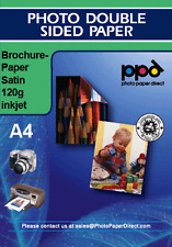 A4 Inkjet Folleto Papel Satinado Doble Cara De 120g X 50 Hojas