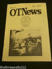AMATEUR RADIO - RAOTA - OT NEWS #22 - JULY 1991