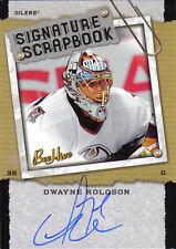 06-07 Beehive Signature Scrapbook Dwayne Roloson Auto