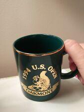 New listing Rare 1994 US Open Oakmont Golf Ceramic Coffee Mug men's gift Golfing golfer Cup