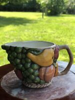 Vintage Yellow Pear Fruit Creamer Small Pitcher Ceramic Pottery Cabin Farm Decor