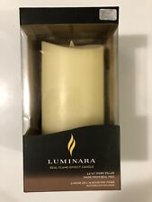 "Luminara Flickering Flameless Candle with Timer - 7"" - Ivory"