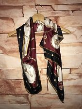 """Talbots square silk Scarf 36""""x36"""" beige ivory red royal keys career casual"""