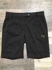 Puma Womens Golf Solid Tech Shorts Bermuda Black Sz 6