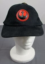 Star Wars Red/Black Rebel Alliance Starbird Insignia Emblem Adjustable Black Hat