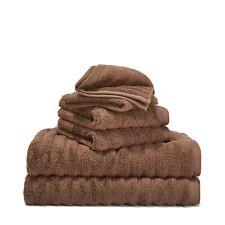 Mainstays Performance Solid 6-Piece Bath Towel Set - Brown Basket