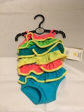 M S Sun Safe Upf 50+ Swimsuit 6-9 Months Bnwt Really Pretty Ruffle Style