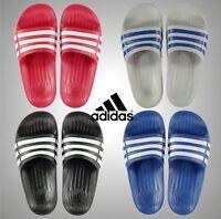 Junior Boys Girls Adidas Flip Flops Duramo Sliders Swimming Footwear Size 3 4 5