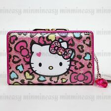 be25f05ecf Hello kitty Sparkling Crystal Kiss clasp lock Case Pocket Coins Bag Wallet  (M)