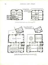 1906 Hawick Free Library Design Alexander Gardner With Floorplans