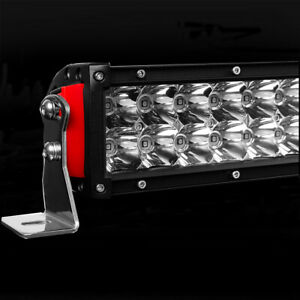 Curved 32inch LED LIGHT BAR Double Row Combo Beam Driving Offroad + Wire