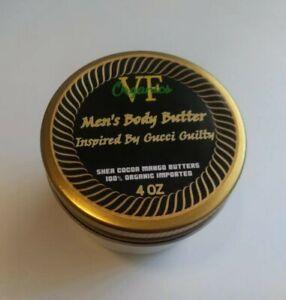 Gucci Guilty Body Butter Men's Shea Cocoa Mango Organic Cream Lotion