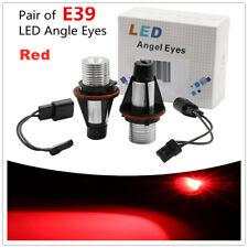 2PCs 12W Red LED Angel Eyes Halo Ring Light Bulbs for BMW E39 E60 E53 X5 Series