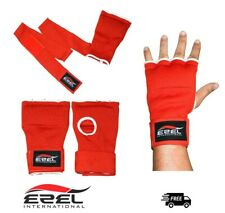 Gel Inner Gloves Padded with Hand Wraps MMA Muay Thai Boxing Fight PAIR