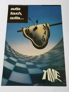 TIME OUTTA TOUCH OUTTA... OLD SKOOL RAVE FLYER 1991 RARE SASHA CARL COX
