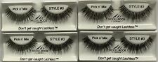 Style 3 Model Rock Lashes - 4 Pairs (Hand made vegan quality lashes)