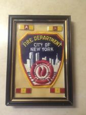 Firefighter New York City NYC Fire Department  with Service Bars Framed 5' x 7'