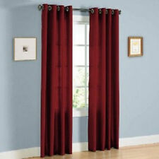 1 BURGUNDY PANEL BLACKOUT HEAVY THICK SILVER GROMMET WINDOW CURTAIN LINED DRAPE